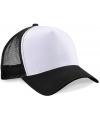 Truckers cap zwart/wit voor volwassenen